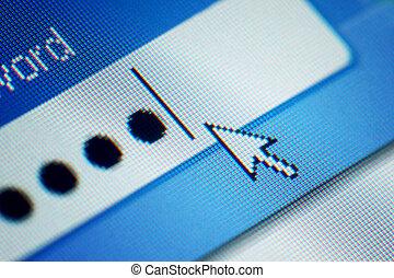 login  password on lcd screen macro
