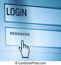 login, passwort