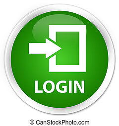 Login premium green round button