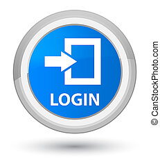 Login prime cyan blue round button