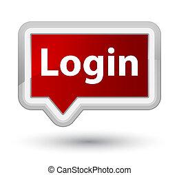 Login prime red banner button