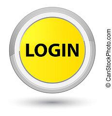 Login prime yellow round button