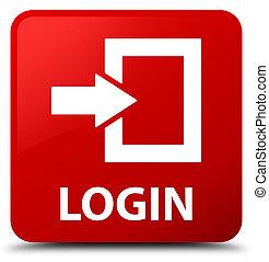 Login red square button