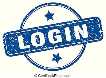 login round grunge isolated stamp
