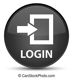Login special black round button