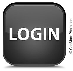 Login special black square button