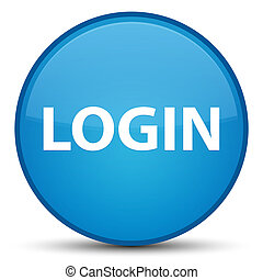 Login special cyan blue round button