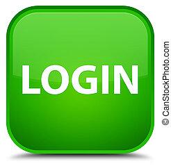 Login special green square button