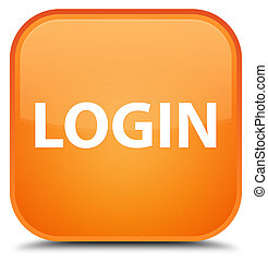 Login special orange square button