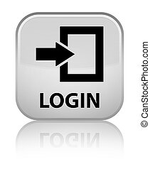Login special white square button