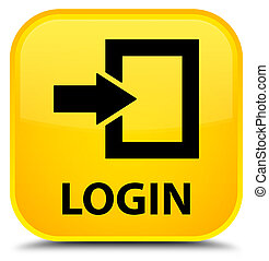 Login special yellow square button