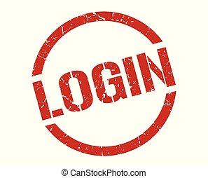 login stamp