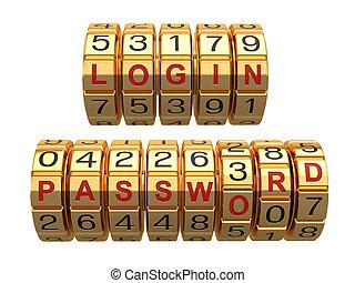 login, système, accès, combinaison, mot passe