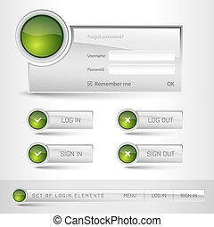 Login Template - Set of member login template with buttons....