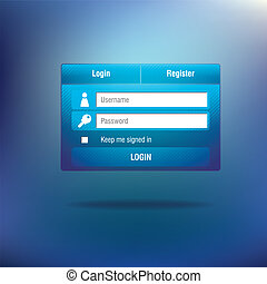 Login template form, eps 10 - vector illustration