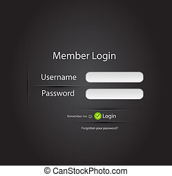 login, vecteur, page