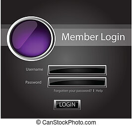 Login vector background