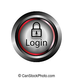login, vector, knoop, pictogram