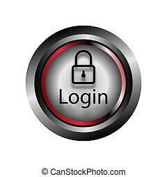 login, vector, knoop, pictogram