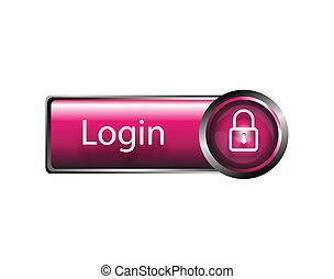 login, vector, pictogram