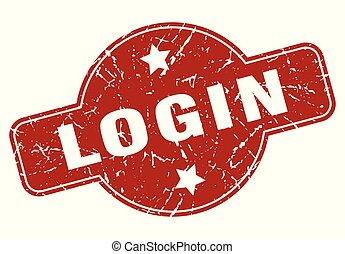 login vintage stamp. login sign