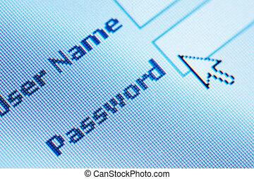 login, wachtwoord