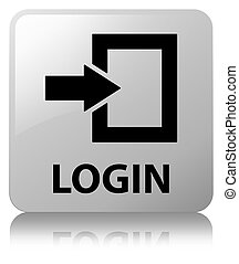 Login white square button