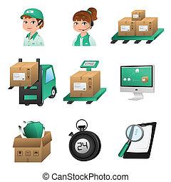 logistic, ícones
