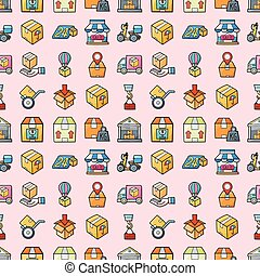 Logistic and shipping icons set, eps10