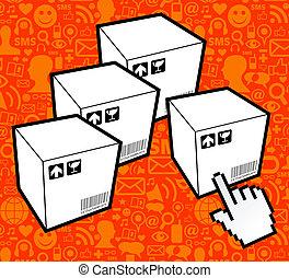Logistic box icon