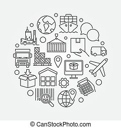 Logistic concept illustration