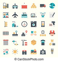 logistic icon - logistic and transportation icon, isolated...