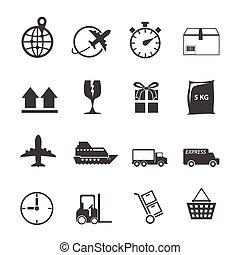 Logistic icon set
