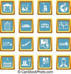 Logistic icons azure