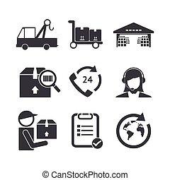 Logistic icons set.