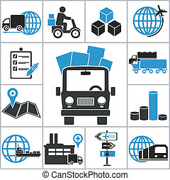 Logistic icons. Vector set for you design