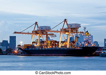 Logistic Import Export Freight - Container Cargo freight ...