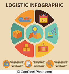 Logistic infographic icons