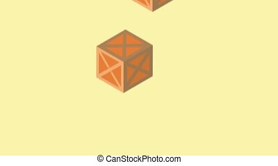 logistic packing boxes animation ,4k video animated
