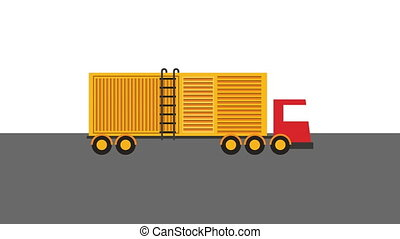 logistic service with truck vehicle ,4k video animation