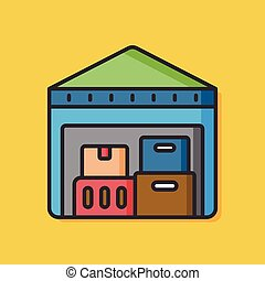 logistic warehouse vector icon