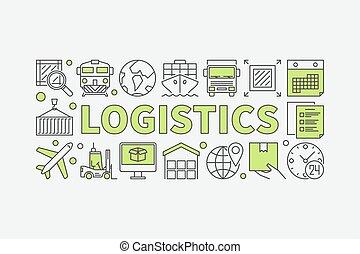 logistica, concetto, minimo, illustrazione