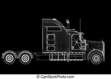 logistica, -, trasporto mediante autocarro