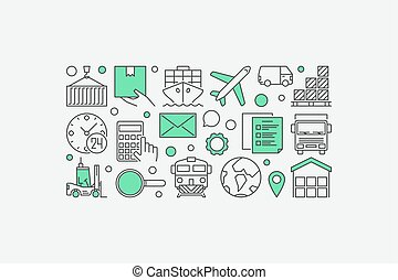 Logistics and delivery illustration