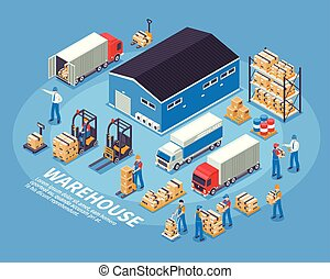 Logistics And Warehouse Concept