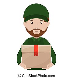 Logistics Assistant with sealed package