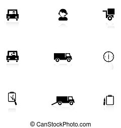 Logistics black icons