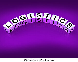 Logistics Blocks Show Logistical Strategies and Plans -...