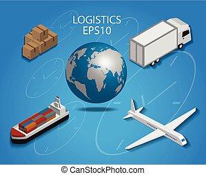 Logistics cargo  flat design
