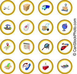 Logistics cartoon icon circle